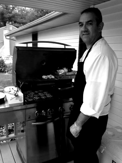 Chef George Faust Grilling